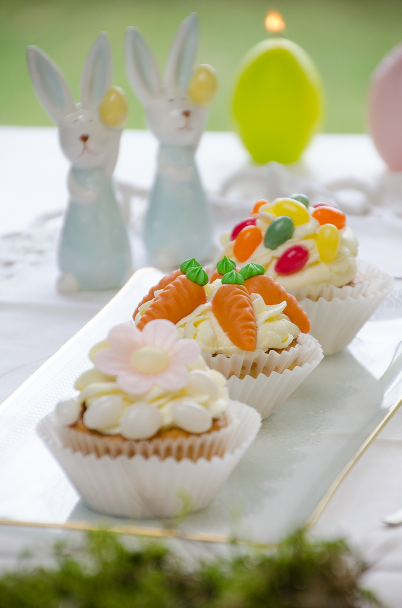 Oster-Cupcakes mit Zitronen-Frosting