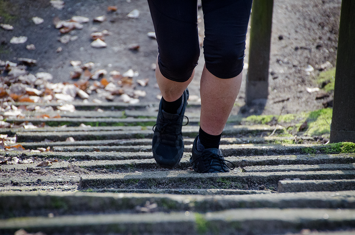 Treppensteigen als Outdoor-Sport