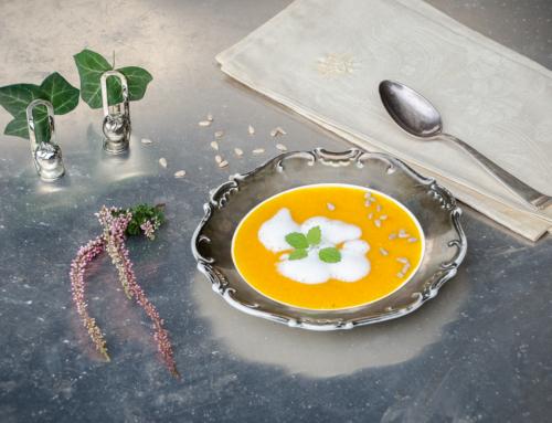 Pure klassische Kürbissuppe