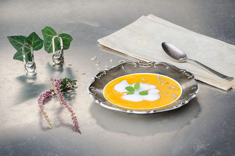 klassische Kürbissuppe