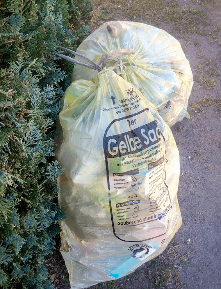 Gelbe Säcke Zero Waste