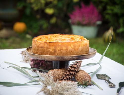 Apfel-Schmand-Kuchen mit Vanillepudding